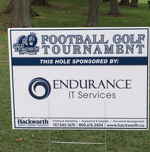 Endurance IT Services Proud Sponsor of the ODU Football Golf Tournament