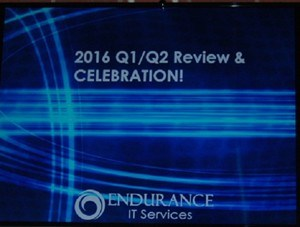 Endurance IT Team Celebrates Q1 2016