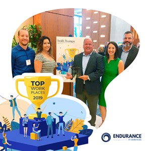 ENDURANCE IT SERVICES | 2019 TOP WORKPLACES, THIRD PLACE, SMALL-SIZE COMPANIES