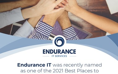 Endurance It is pleased to have been named one of virginias best places to work